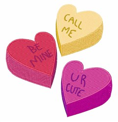 Candy Hearts embroidery design