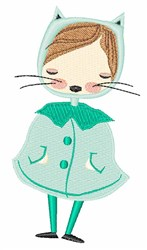Kitty Girl embroidery design