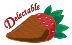 Delectable Strawberry embroidery design