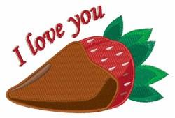 Love Strawberry embroidery design
