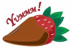 Yummm! Strawberry embroidery design