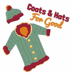 Coats & Hats embroidery design