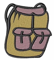 Hiking Backpack embroidery design