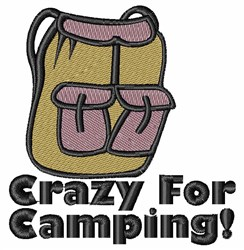 Crazy Camping embroidery design