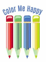 Color Me Happy embroidery design