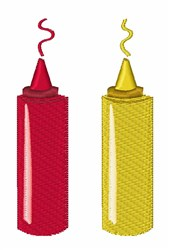 Ketchup Mustard embroidery design