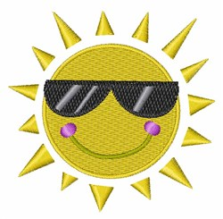 Smile Sun embroidery design
