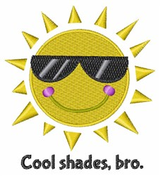Cool Shades Bro embroidery design