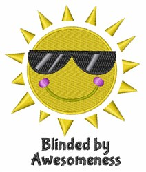 Blinded by Awesomeness embroidery design