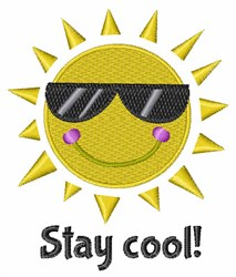 Stay Cool embroidery design
