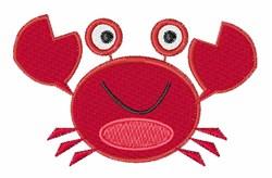 Happy Crab embroidery design