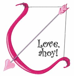 Love Ahoy embroidery design