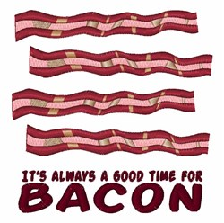 Bacon Time embroidery design