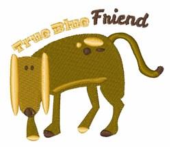 True Blue Friend embroidery design