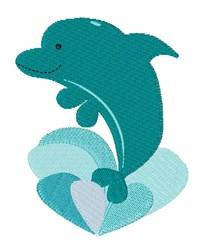 Dolphin Splash embroidery design