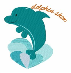 Dolphin Show embroidery design