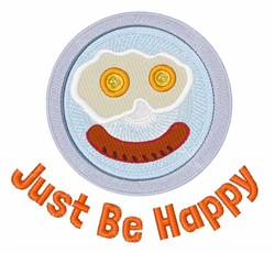 Just Be Happy embroidery design