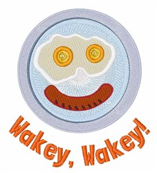 Wakey Wakey embroidery design