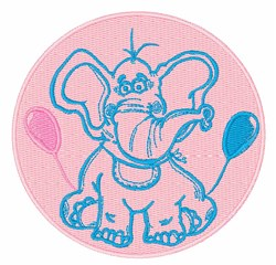 Baby Elelphant embroidery design