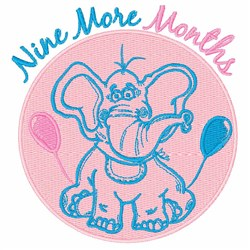 Nine More Months embroidery design