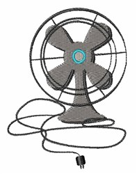 Oscillating Fan embroidery design