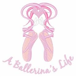 Ballerinas Life embroidery design