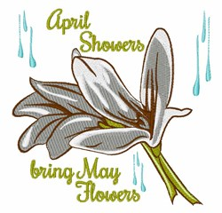 May Flower embroidery design