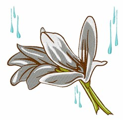 Lily Flower embroidery design
