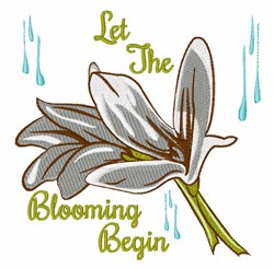 Blooming Begin embroidery design