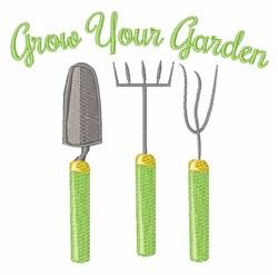 Grow Your Garden embroidery design