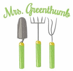 Mrs. Greenthumb embroidery design
