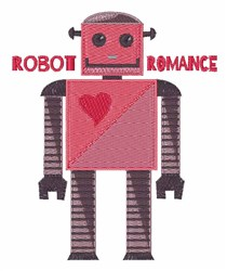 Robot Romance embroidery design