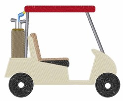 Golf Cart embroidery design