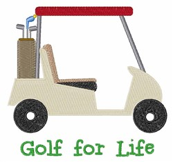 Golf for Life embroidery design