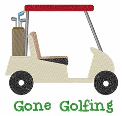 Gone Golfing embroidery design