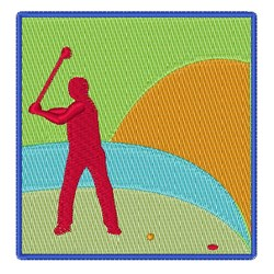 Golfing Green embroidery design
