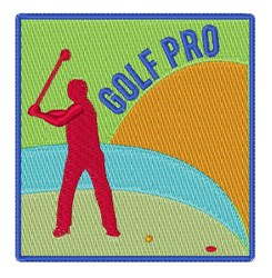Golf Pro embroidery design