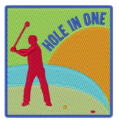 Hole in One embroidery design