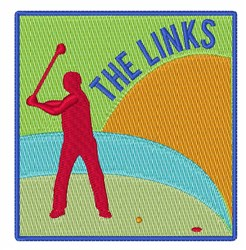 The Links embroidery design