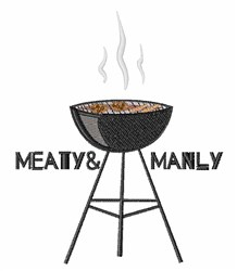 Meaty & Manly embroidery design