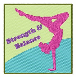 Strength & Balance embroidery design