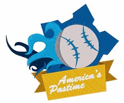 Americas Pastime embroidery design