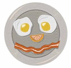 Bacon Face embroidery design