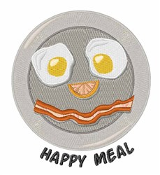 Happy Meal embroidery design