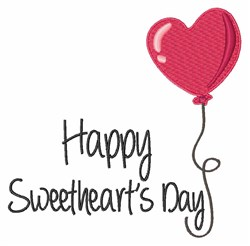 Sweethearts Day embroidery design