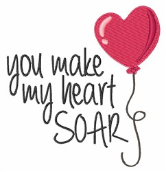 Heart Soar embroidery design