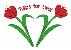 Tulips for Two embroidery design