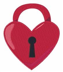 Heart Padlock embroidery design