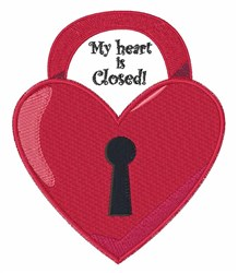 Closed Heart embroidery design