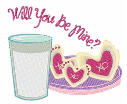 Be Mine Cookies embroidery design